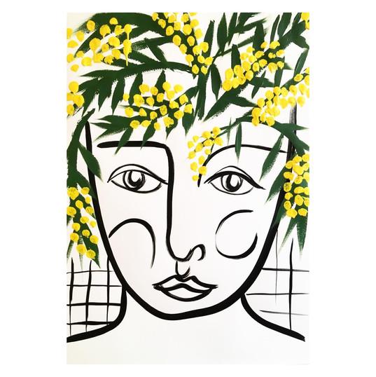 mimosa1 59x84cm