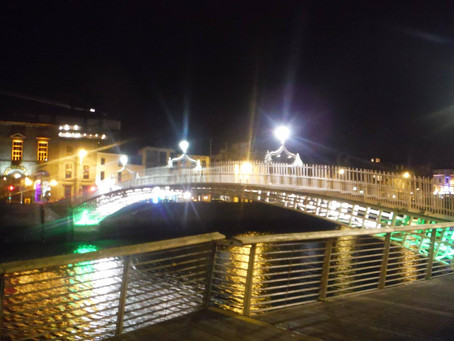Arrival at the River Liffey! Dublin: The Beginning of a Three Week Tour through the UK and France