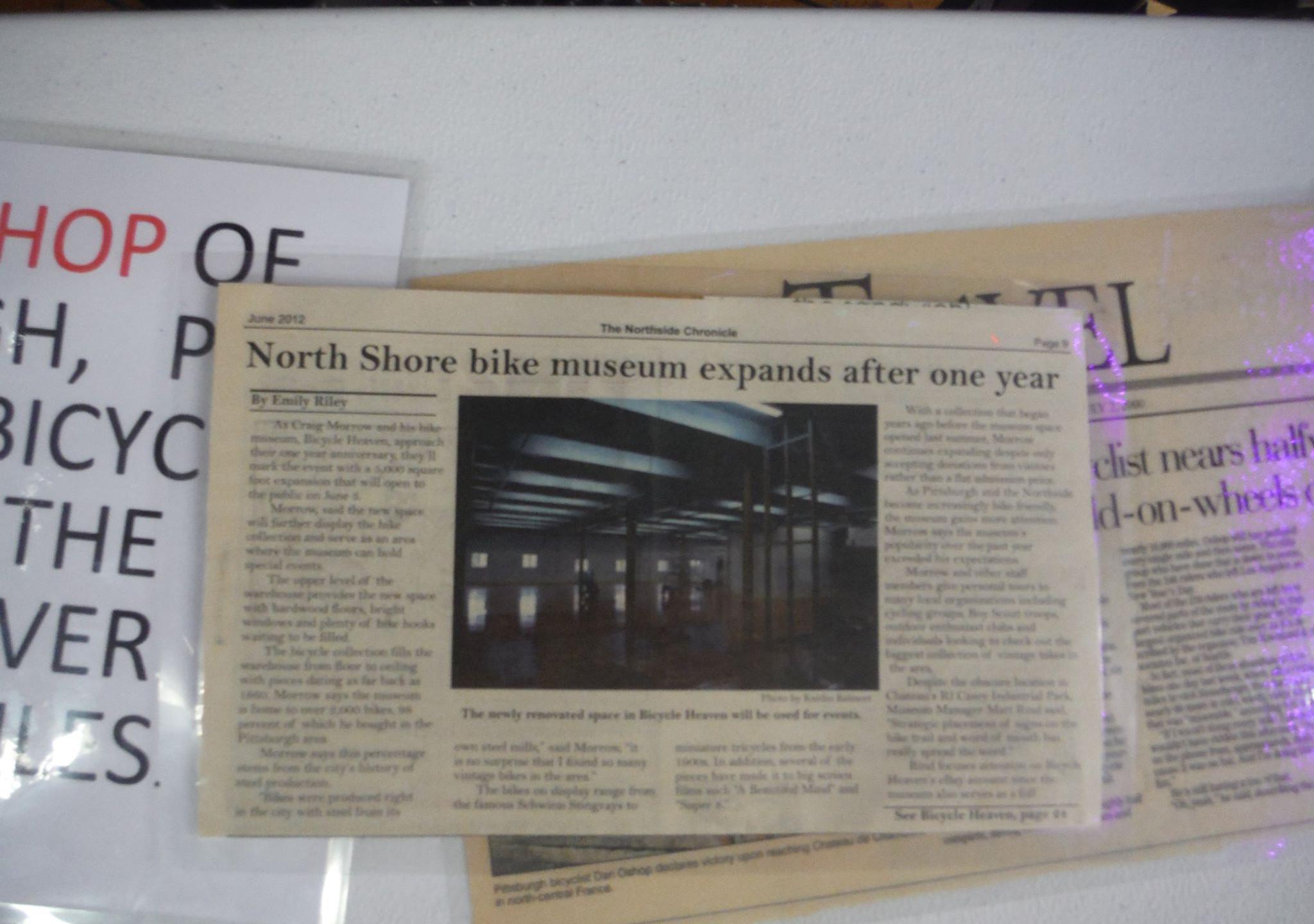 bike expands, pitt