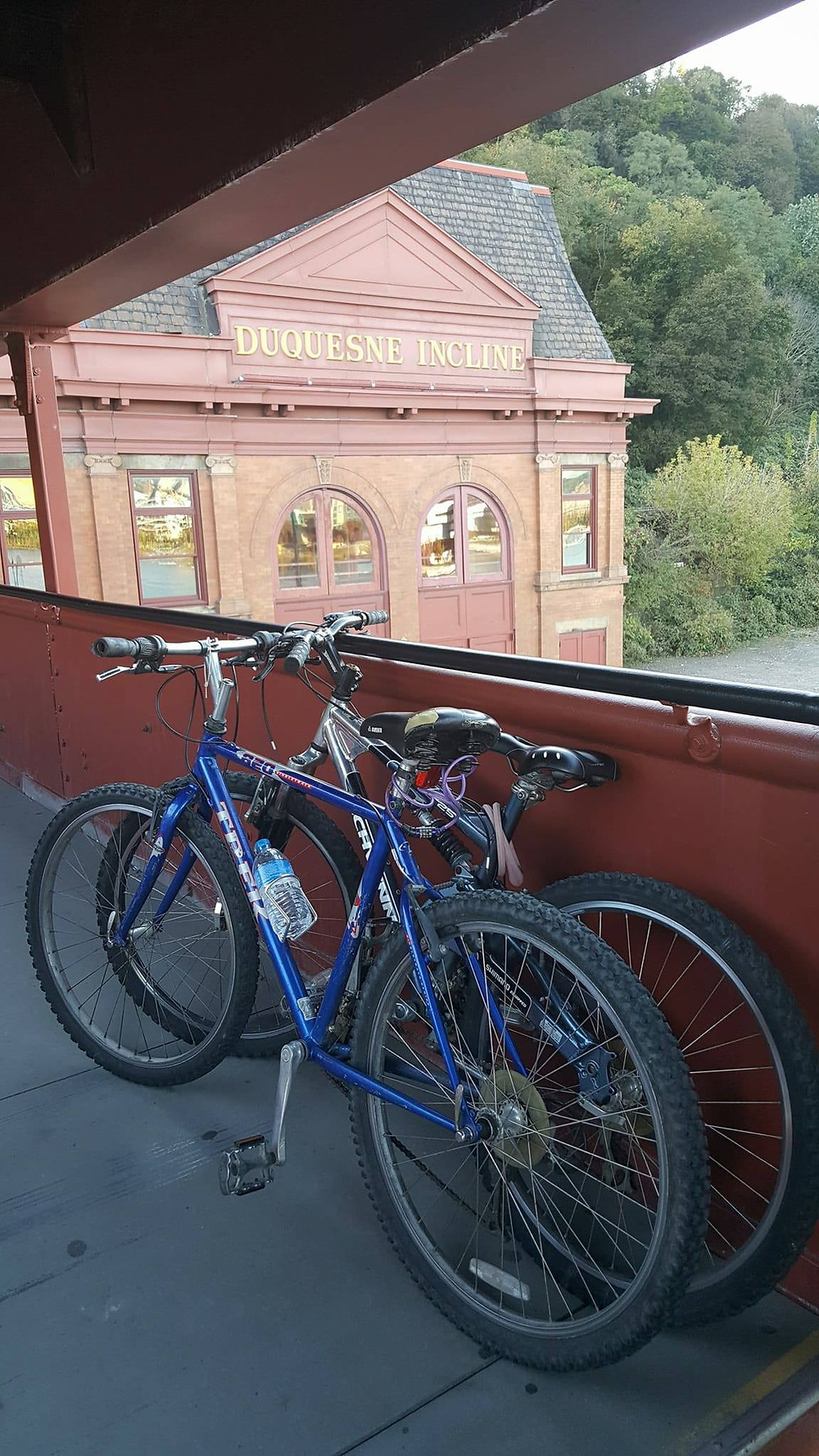 two bikes, Duquesne Incline
