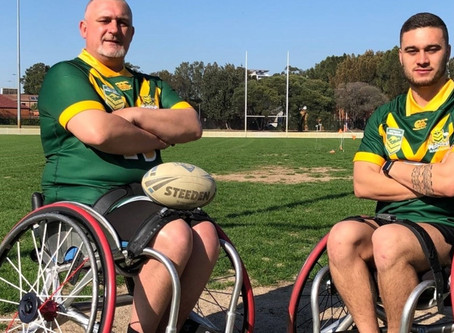 Father-son duo to make wheelchair rugby league history