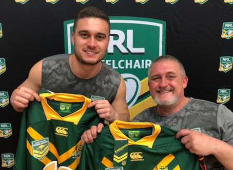 Father son duo make Australian wheelchair rugby league history