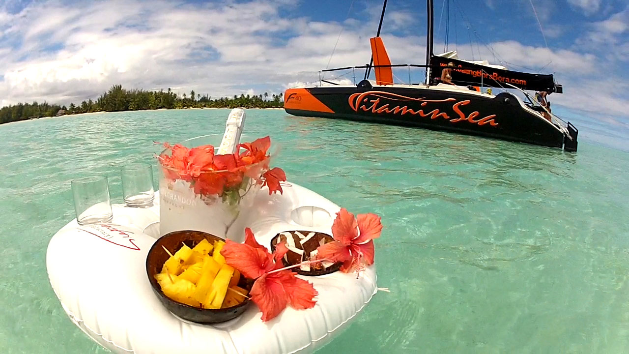 Floating Bar with flowers