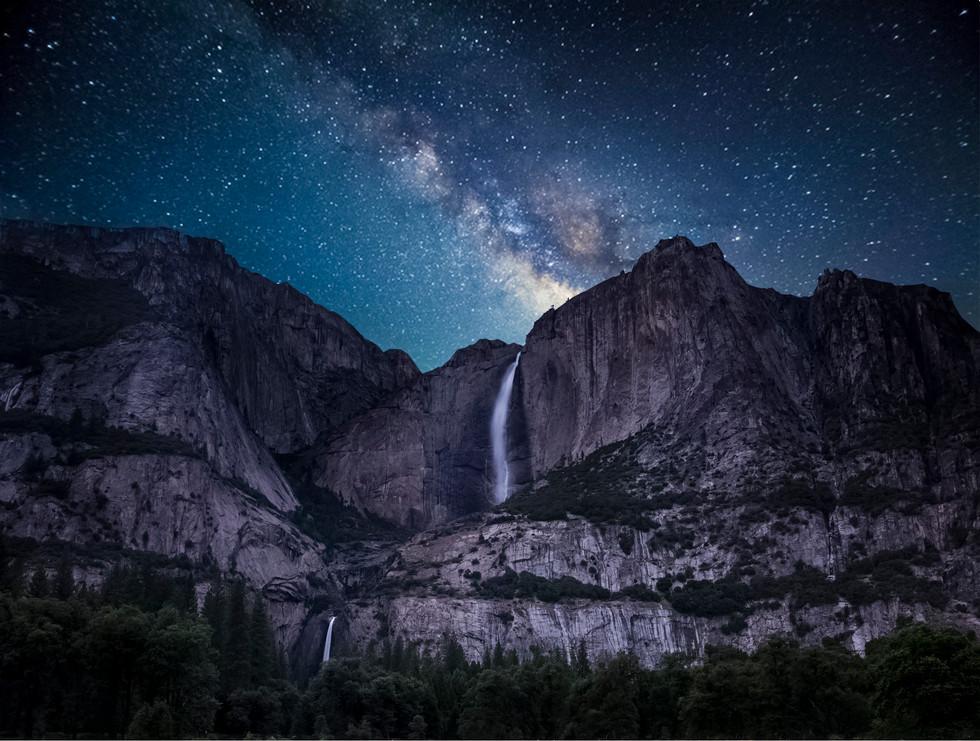Greg Harlow Media Photography Yosemite Falls Milky Way, Yosemite
