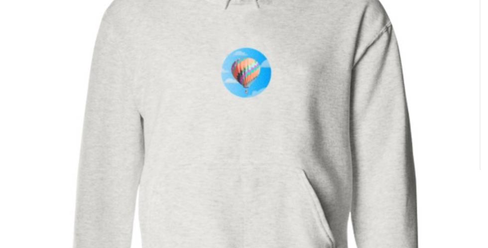 Greg Harlow Media Shop, The Media Hot Air Balloon Logo Heather Grey Hooded Sweatshirt