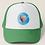 Greg Harlow Media Shop, Media Balloon Trucker Snapback Mesh Hat Cap Green