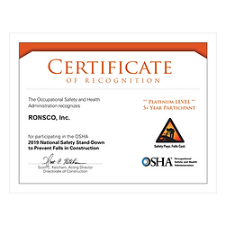 2019 OSHA National Safety Stand-Down to Prevent Falls in Construction