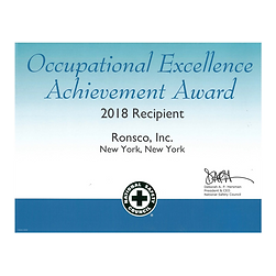 RONSCO receives the National Safety Council's Occupational Excellence Achievement Award