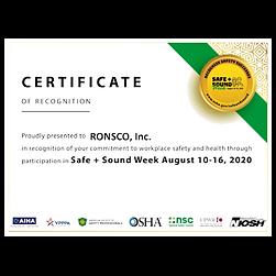 2020OSHA Safe + Sound Week