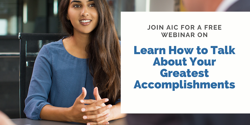 Learn How to Talk About Your Greatest Accomplishments