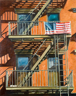 """2007 """"Staircase with flag"""".jpg"""