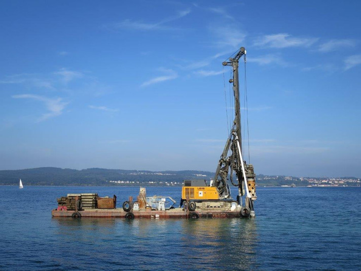 Fährhafen Bohrgerät