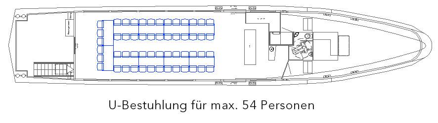 U-Bestuhlung für max. 54 Personen
