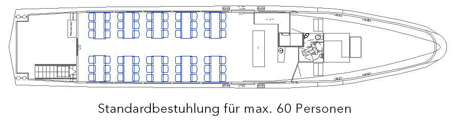 Standardbestuhlung für max. 60 Personen
