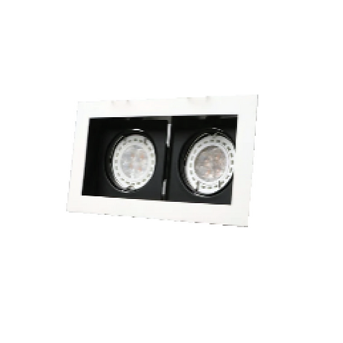 SPOTLIGHT GU10 2 LIGHTS RECESSED BLACK & WHITE