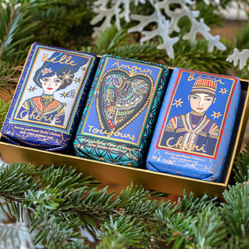 Fragonard Подарочный набор мыла (Belle Cherie, Amour Toujours, Beau Cheri) 3 по 150гр.