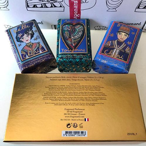 Fragonard Подарочный набор мыла Belle Cherie, Amour Toujours, Beau Cheri