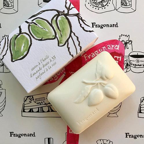 Fragonard Мыло Rose (Роза) 300гр. с 3% содержанием сладкого миндального масла