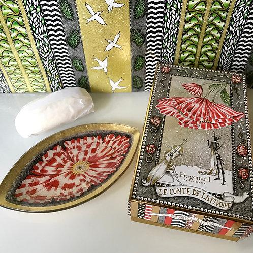 Fragonard Подарочный набор мыло Пион мыльница Фрагонар