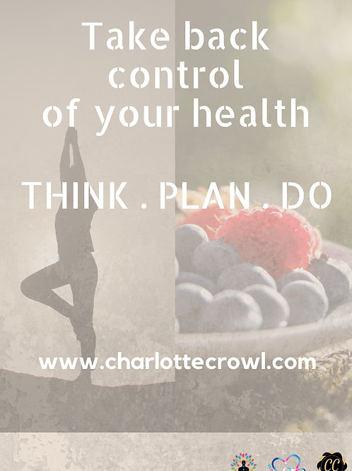 Take Back Control Of Your Health Planner