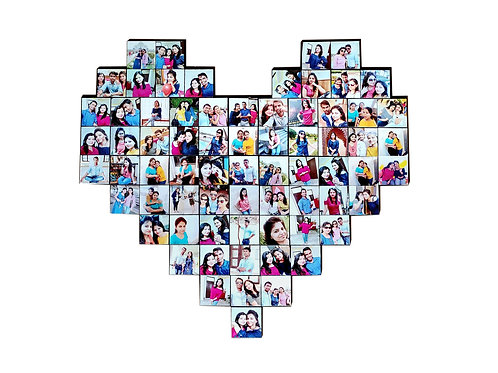 Personalized Big Heart Collage