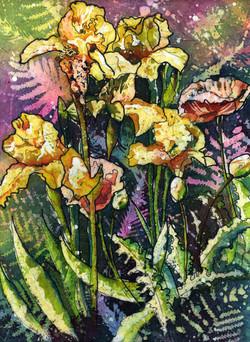 Yellow Iris Batik
