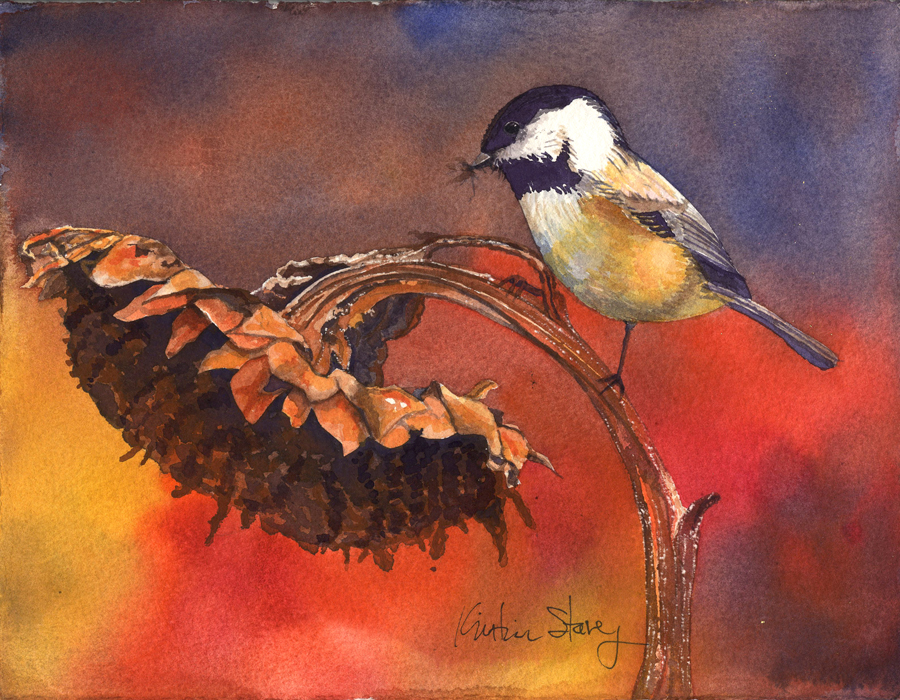 Chickadee Dryed Sunflower