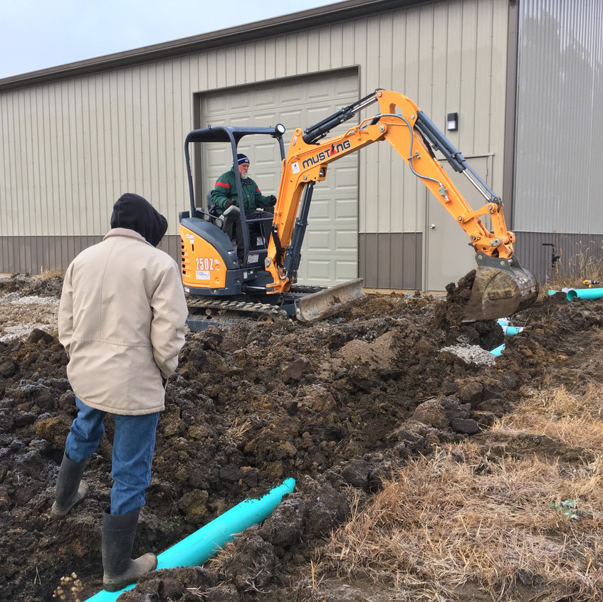 2017_11_17 Backfilling dirt into drain trench