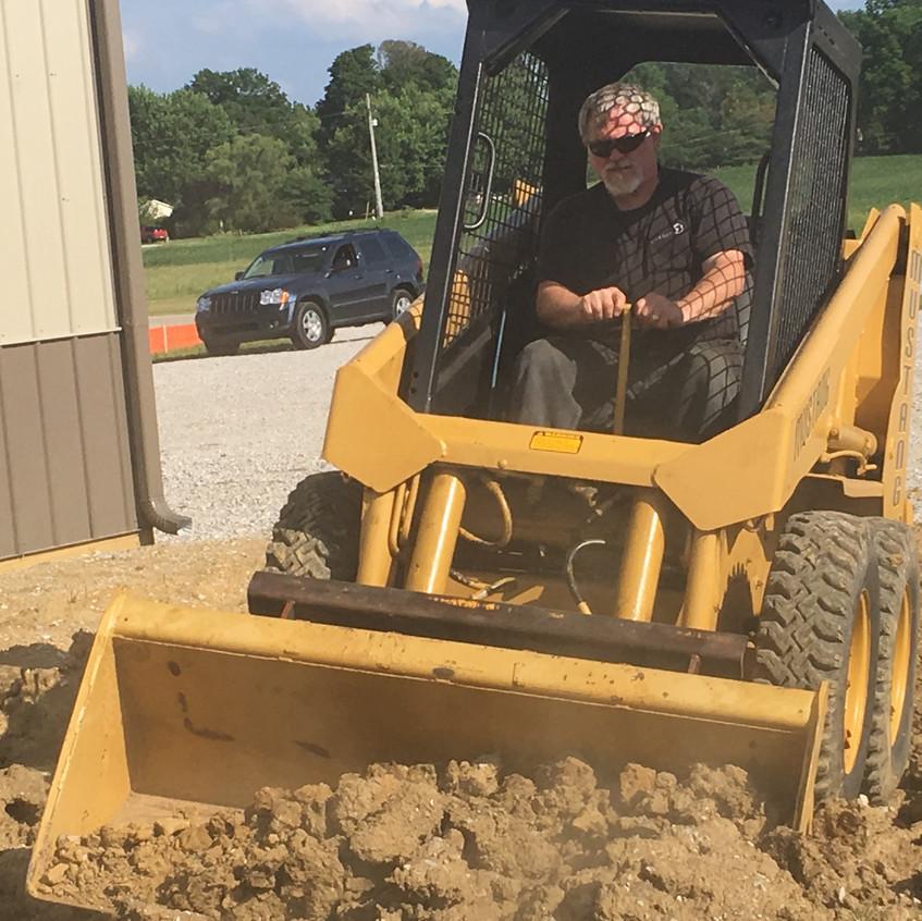 2017_06_12 Mark grading west dirt