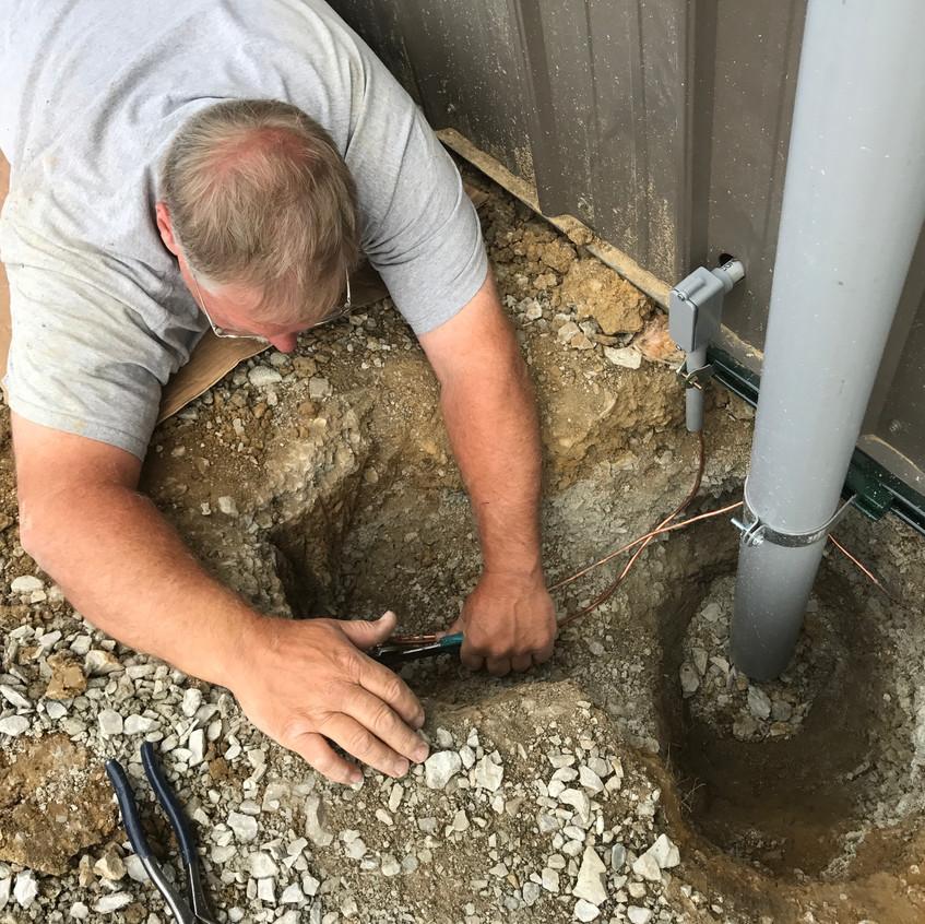 2017_06_05 Toby installing ground rod