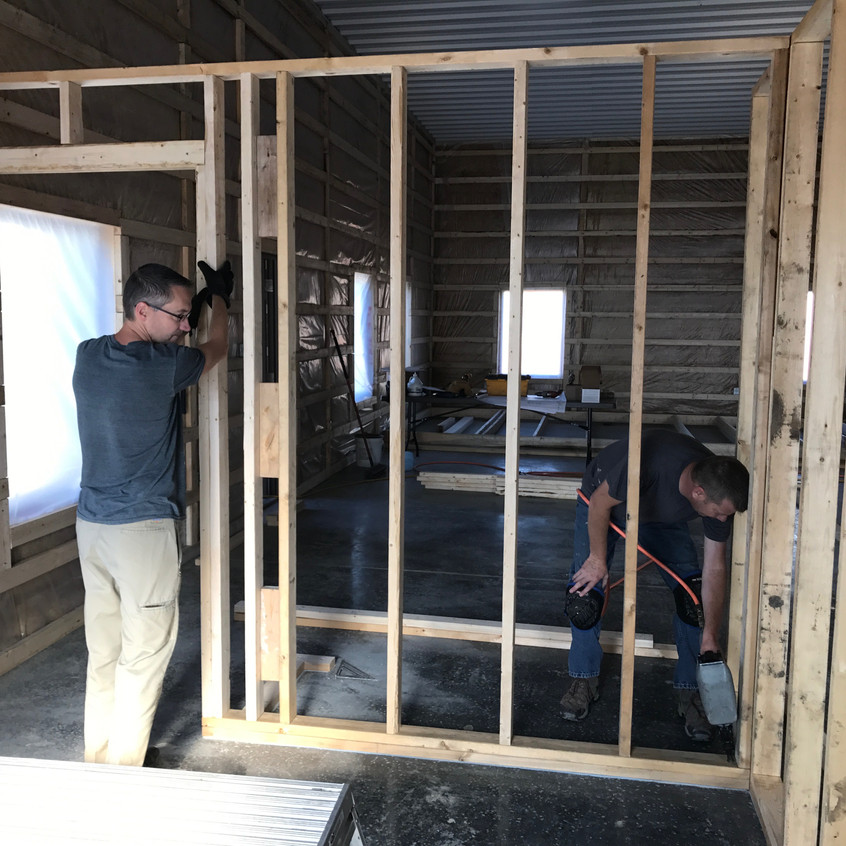 2017_06_08 Terry and Scott framing offices