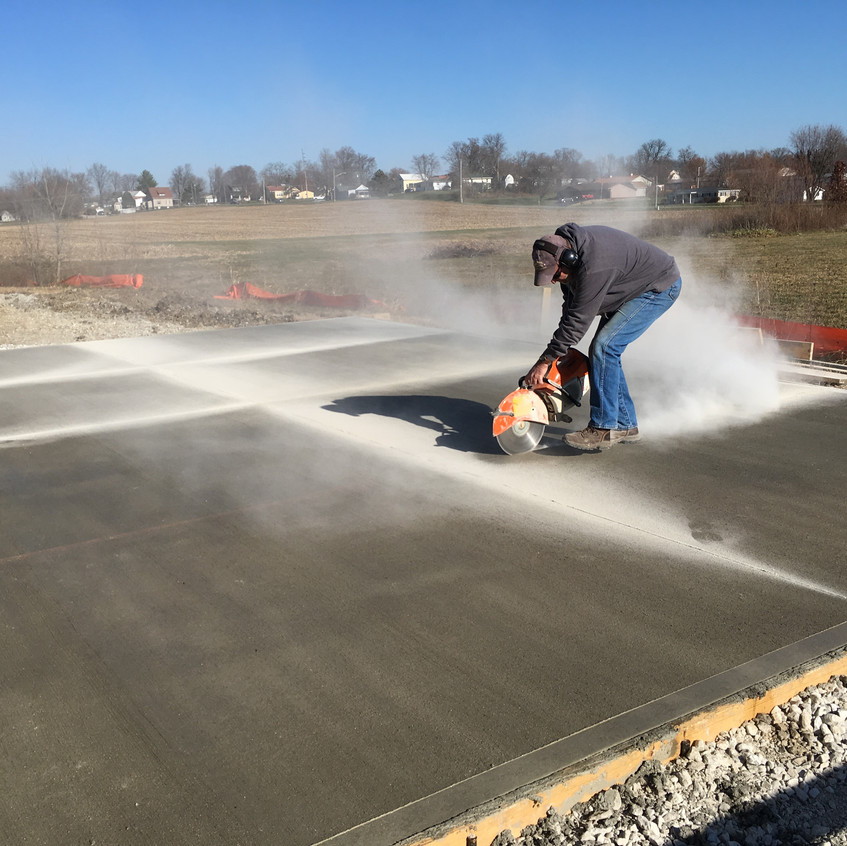 2017_12_02 Mark sawing the east concrete