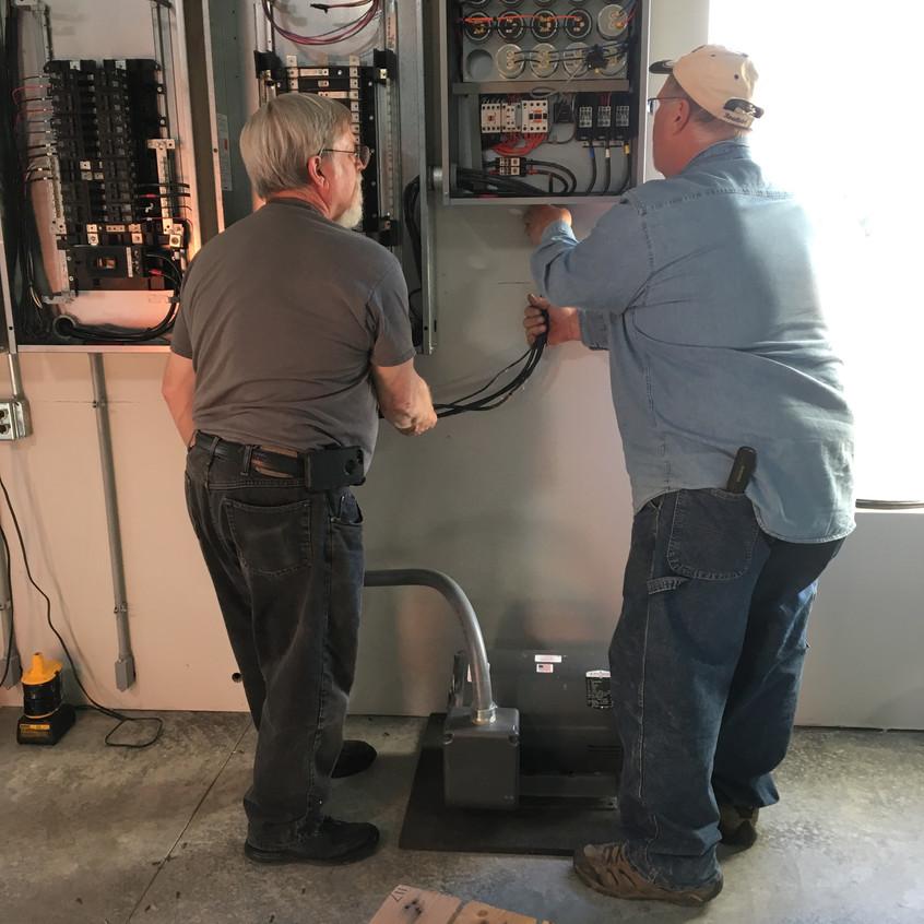2017_12_08 RMP Toby installing rotary converter