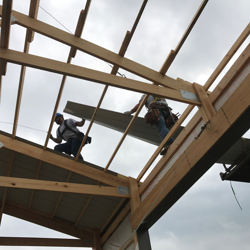 2017_05_08 Sliding roofing off gradall