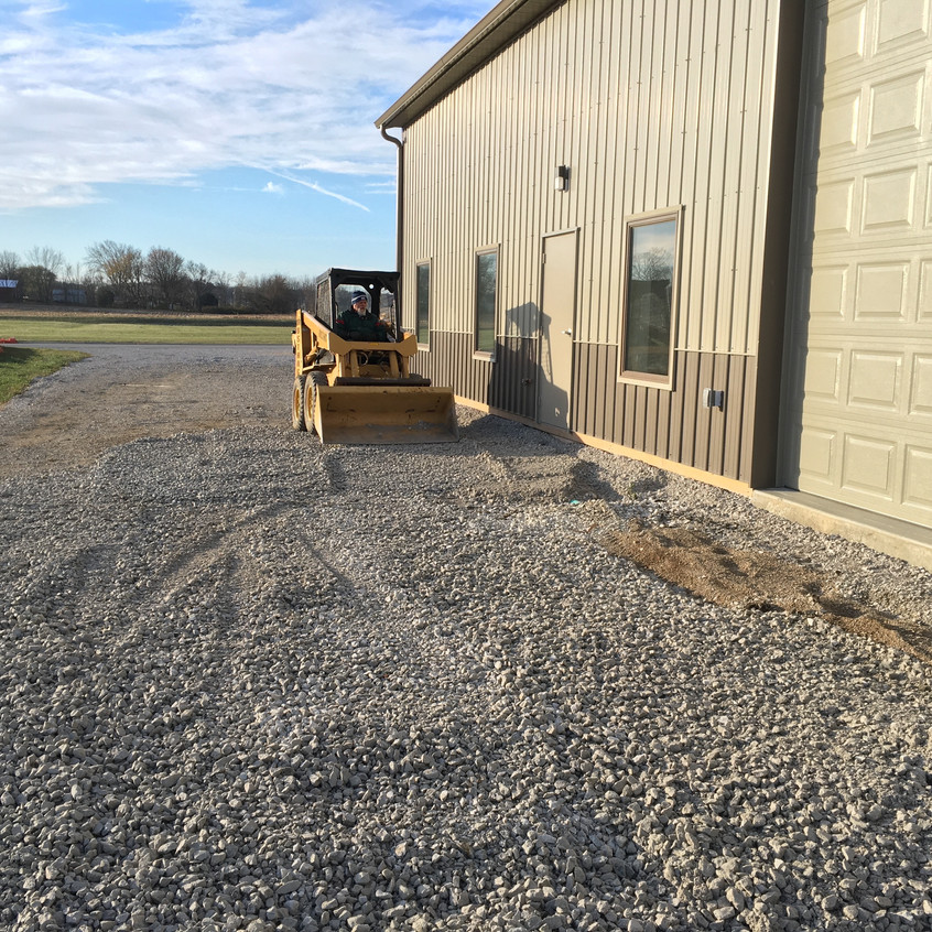 2017_11_20 Rough stone for concrete pad