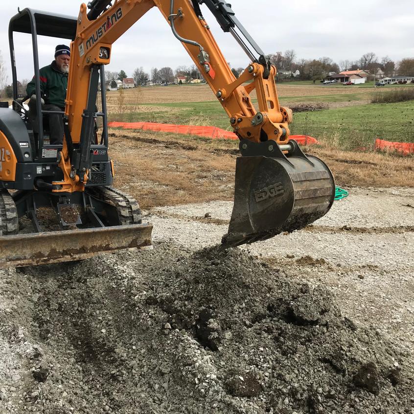 2017_11_16 RMP excavating drain trench