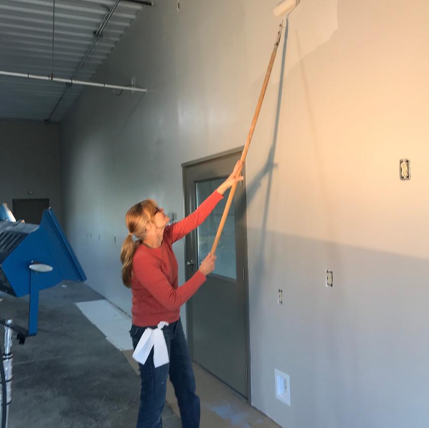 2017_11_03 Carol painting above kitchenette