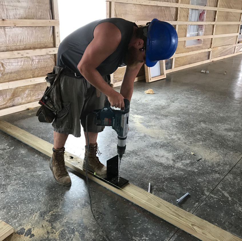 2017_05_11 Setting interior wall brackets