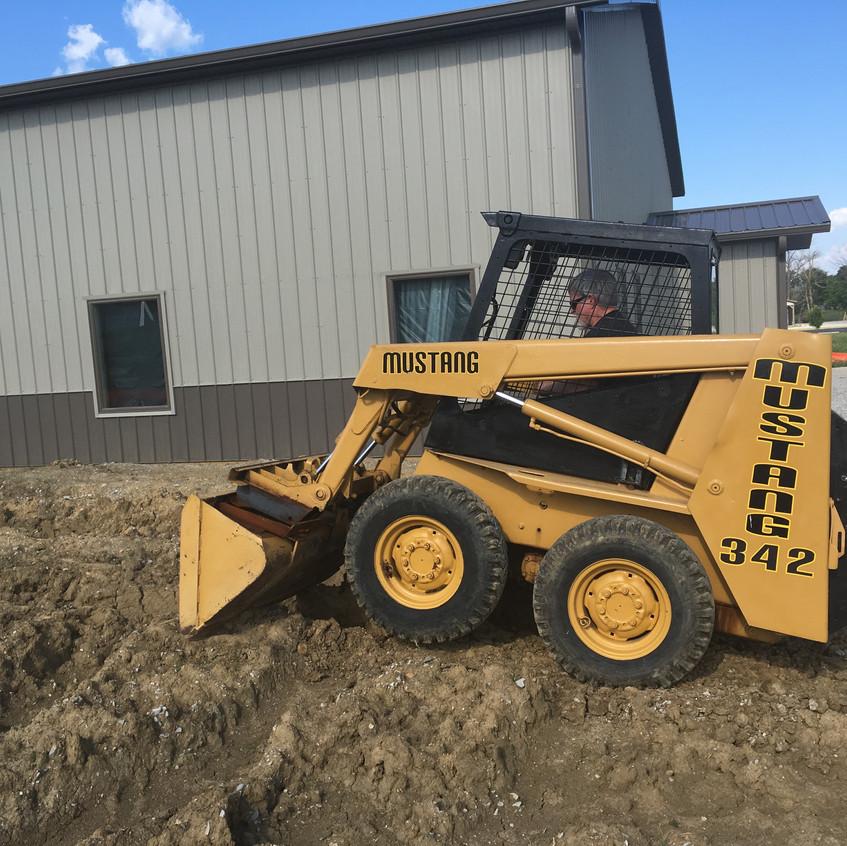 2017_06_12 Skid steer grading west dirt