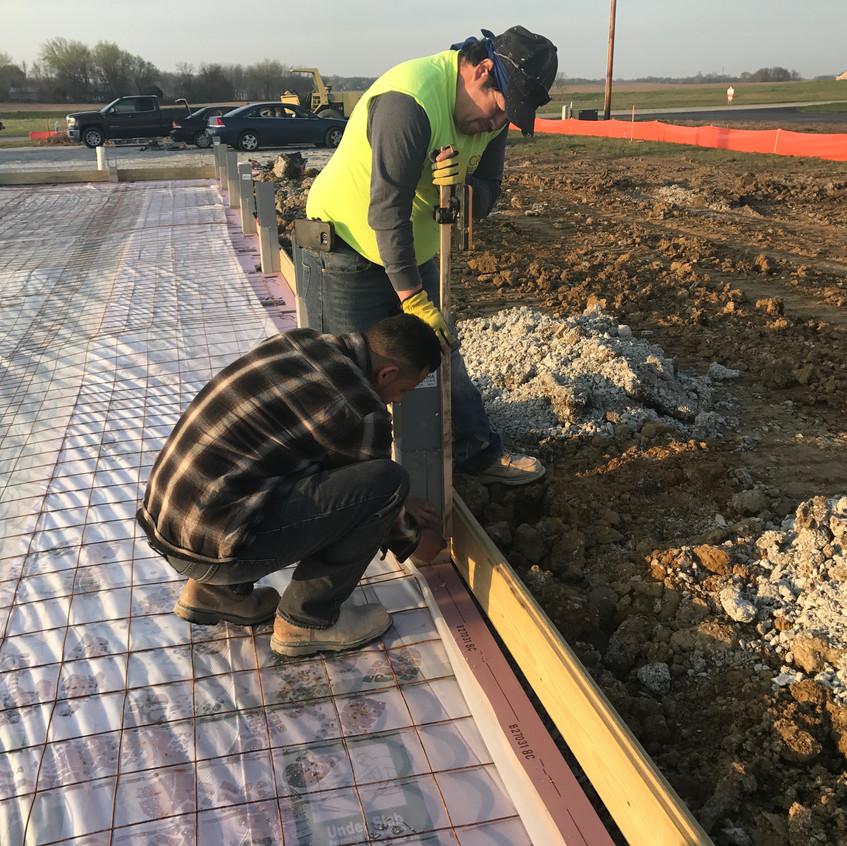 2017_04_17 Setting concrete grade