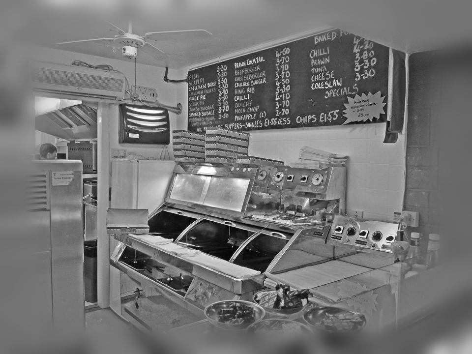 Chip shop b&w