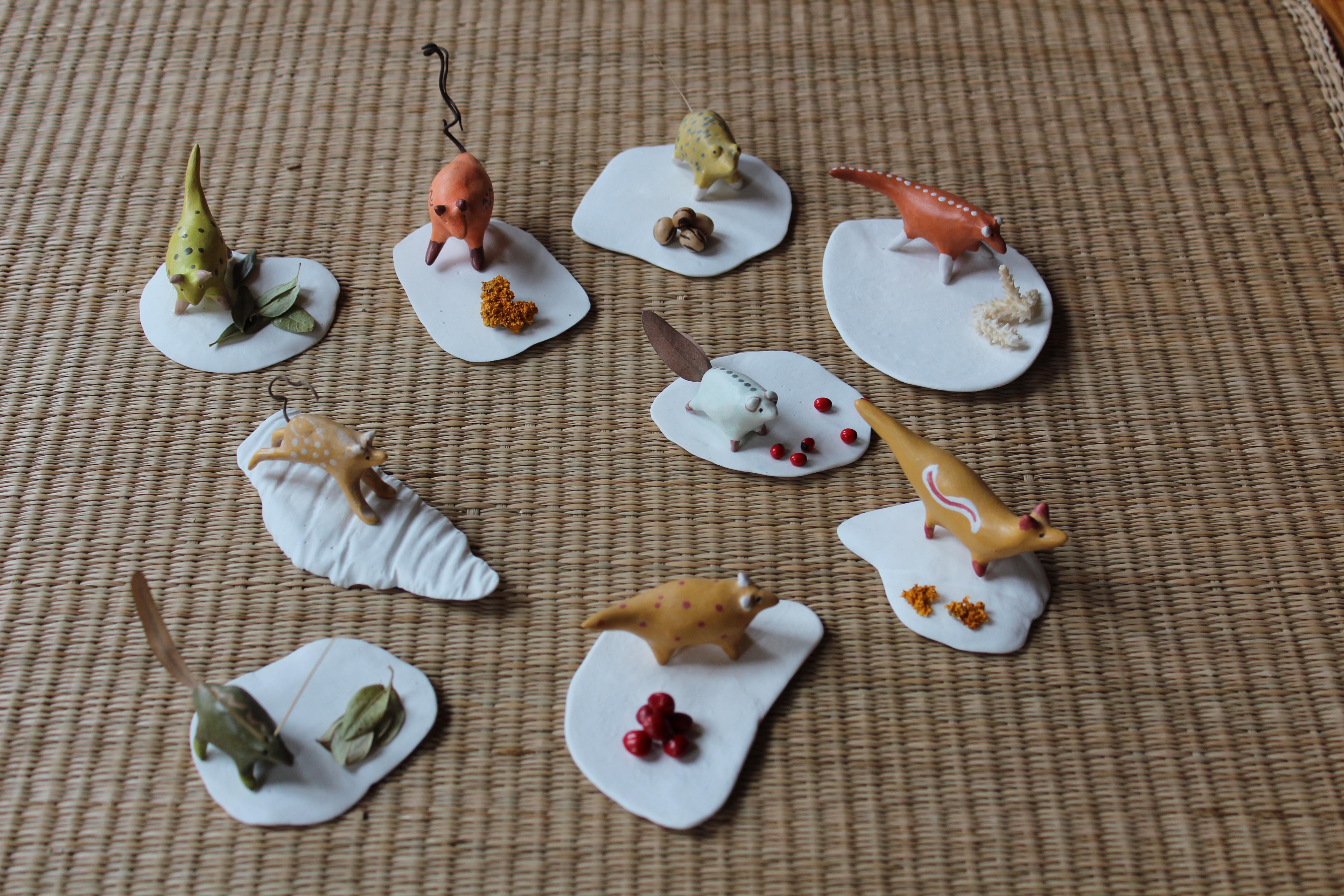 minis sur palets de porcelaine
