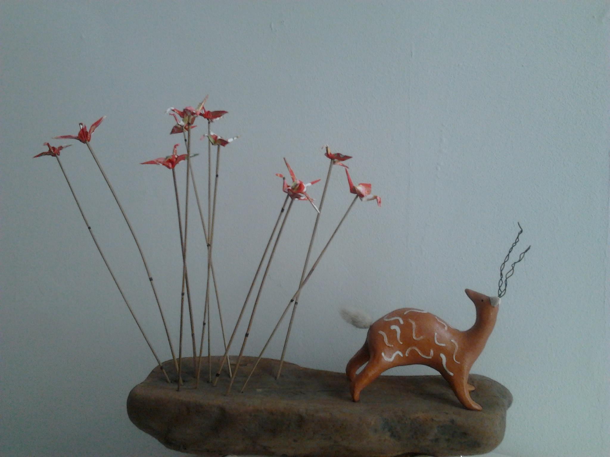 l'antilope et les grues