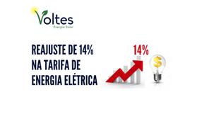 REAJUSTE DE 14% NA ENERGIA ELÉTRICA