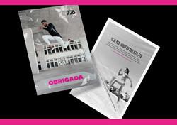 Panfletos ou cards de divulgação de exercícios de uma box de corssfit.