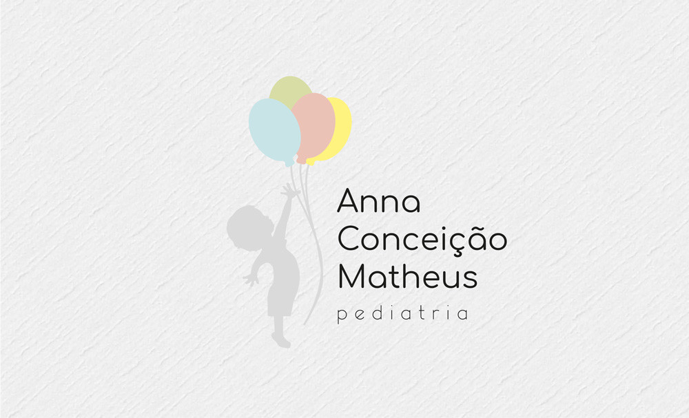 Design gráfico para médica pediatra. Logotipo para pediatria