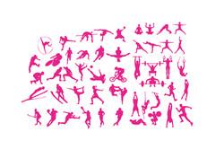 Vários ícones de diferentes esportes.