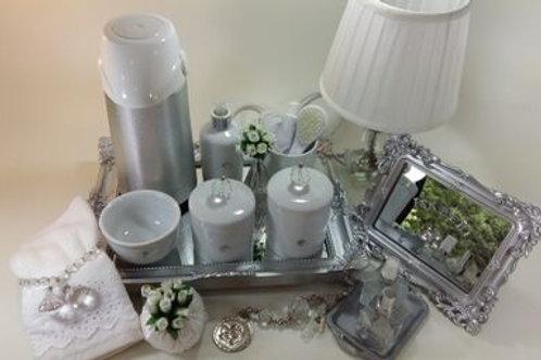 vitrine kit higiene cristal transp-band prata