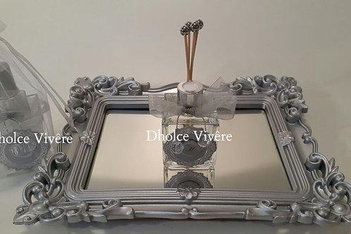 ref 444 difusor com varetinhas 50ml bebê francês - prata