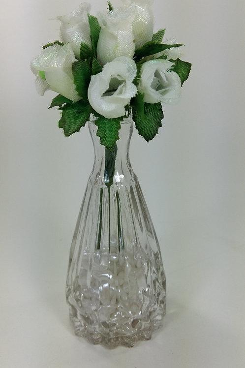 ref 20 vazinho cristal com rosinhas - branca